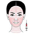 facial biorevitalization vector image