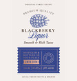 family recipe blackberry liquor acohol label vector image