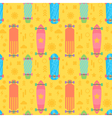 Flat longboards seamless pattern vector image