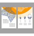 Flyer leaflet booklet layout Editable design vector image vector image
