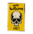 flyer template halloween party evil skull on vector image