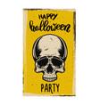 flyer template halloween party evil skull vector image