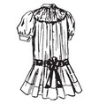 girls dress vintage engraving vector image vector image