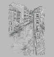 grey hand drawing prague
