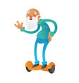 happy youth bearded grandfather or old man vector image