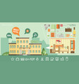 hotel building in summer vacation best choise vector image vector image