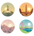 Icons set landmarks and cultures vector image vector image