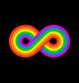 infinity rainbow design vector image