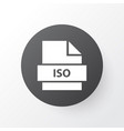 iso icon symbol premium quality isolated record vector image vector image
