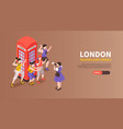 london horizontal banner vector image vector image