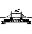 london tower bridge linear vector image