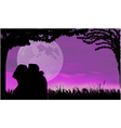 love scene vector image