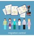 migration control vector image
