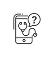 mobile consultant - line design single isolated vector image