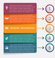 modern strips infographics 5 options banner vector image