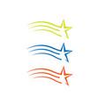 new colorful star logo icon decorative vector image vector image