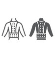 orthopedic corset line and glyph icon vector image vector image