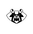panda bear head vector image vector image