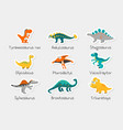 paper stickers cute funny dinosaurs vector image