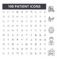 patient line icons signs set outline vector image vector image