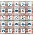 Plaid fabric seamless pattern big scottish set vector image vector image
