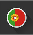 portugal national flag on dark background vector image vector image