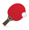 racket and ball for table tennis ping pong vector image vector image