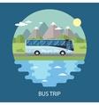 Road trip flat design vector image vector image