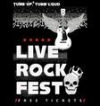 rock fest poster vector image