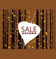 sale autumn on an autumn leaf fall background vector image vector image