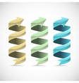 Set of ad ribbon 360 wrapped around own axis vector image vector image