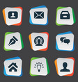 set of simple job icons vector image vector image