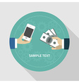 Shopping concept in flat design style Huma vector image vector image