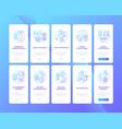 smart watch setup tips onboarding mobile app page vector image vector image