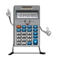 Solar powered calculator cartoon character vector image