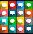 speech bubbles icons with long shadow vector image vector image