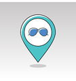 Sunglasses pin map icon Meteorology Weather vector image