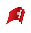 switzerland flag vector image vector image