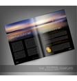 template print edition of the magazine with seasca vector image vector image