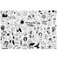 thinking psychology sick people -big doodle set vector image vector image