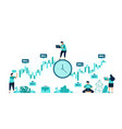timing investment right time to buy and vector image vector image