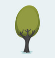 tree cartoon vector image vector image