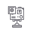 video camera gopro line icon sign vector image vector image