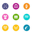 wedlock icons set flat style vector image vector image