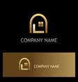 window home gold logo vector image vector image