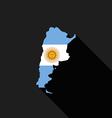 Argentina flag map flat design icon vector image
