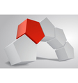 3D Arc of Pentagonal Prism Pentaprism Abstract vector image vector image