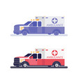 ambulance machine flat vector image vector image