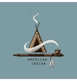 American indian emblems and labels vector image vector image