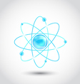 Atom symbol isolated on white background vector image